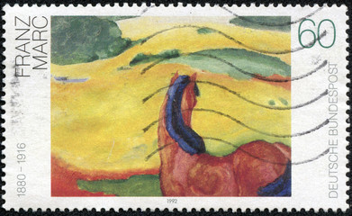 Landscape with a Horse, Painting by Franz Marc