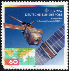 stamp printed in the Germany, shows the ERS-1