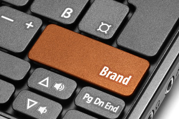 Brand. Orange hot key on computer keyboard