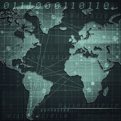 Global internet communications, abstract industrial backgrounds