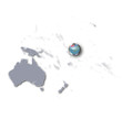Pazifikkarte mit Tuvalu