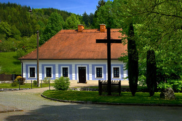Rectory in Sloup township, South Moravia, Czech Republic.