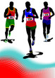 The running man. Track and field. Vector illustration