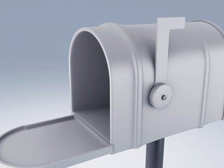 opened white mail box