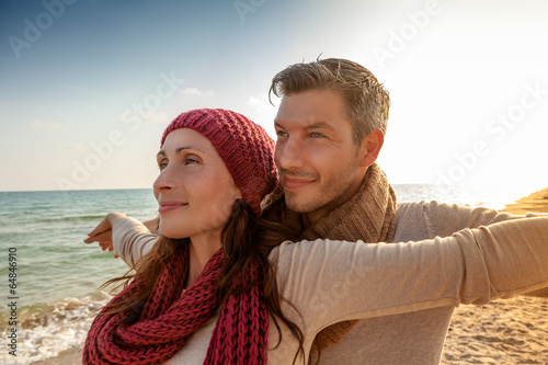 canvas print picture couple sundown autumn