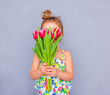 canvas print picture - child flower