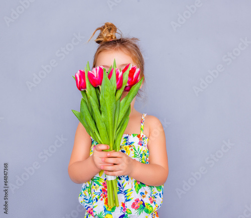 canvas print picture child flower
