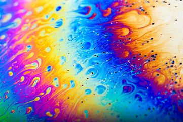 Abstact colours of a soap bubble film