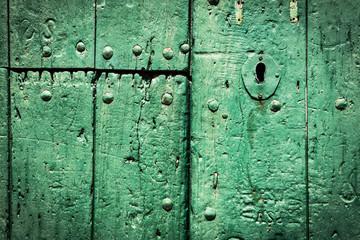 Green door.