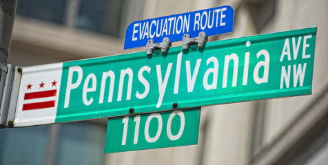 Pennsylvania avenue sign