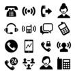 Phone and Call Center Icons Set - 64848981