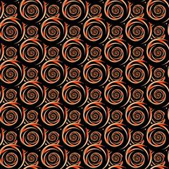 Design seamless colorful decorative spiral pattern