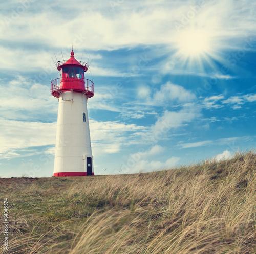 Fotobehang Vuurtoren / Mill Leuchtturm Listland