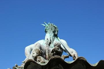 Detailansicht Neptunbrunnen in Berlin Mitte