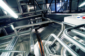 Industrial zone, Steel pipelines and ducts