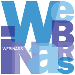 WEBINARS Letter Collage (e-learning professional education)