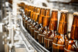 Beer bottles on the conveyor belt - 64851153