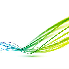 Bright green abstract speed lines background