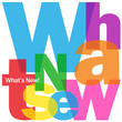 """WHAT'S NEW"" Letter Collage (newsletter marketing alerts new)"