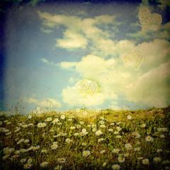 Romantic landscape retro style