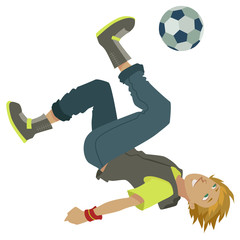 cartoon soccer boy