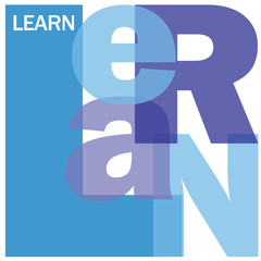 """LEARN"" Letter Collage (education training e-learning school)"
