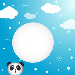 Panda speaking with a speech bubble