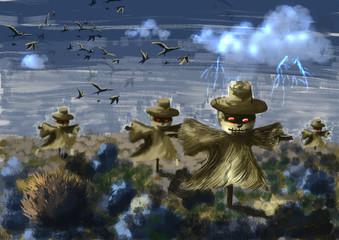 cg painting scarecrow