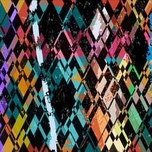 Composition abstraite de fond, avec des coups, projections et tria
