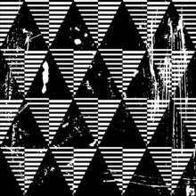 motif de fond géométrique sans soudure, avec des triangles et bande