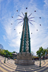 Tallest flying swing carousel in the world at Prater, Vienna