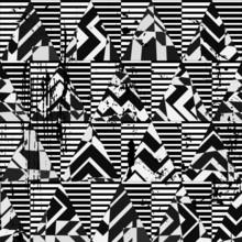 motif de fond, avec des triangles et des rayures, noir
