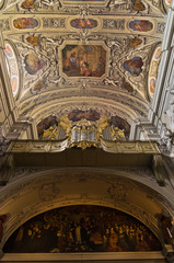 Frescos and other decorations inside Dominican church in Vienna