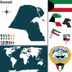 Map of Kuwait