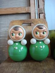 Винтаж советские детские игрушки Неваляшки, стул, холст