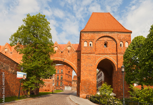 Gdanisko tower (XIV c.) of Teutonic Order castle. Torun, Poland - 64853194