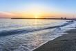 couché de soleil sur une plage