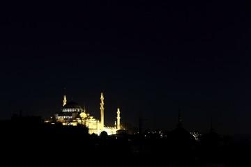 Istanbul Suleymaniye Mosque at Night