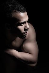 Portrait of muscular man