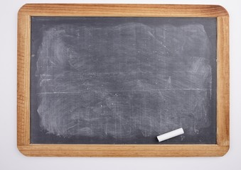 Chalkboard with piece of chalk