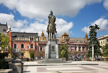Monument to Mikhail the Brave in Oradea. Romania