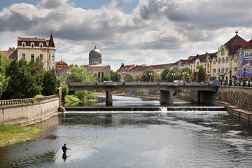 River Crisul Repede in Oradea. Romania