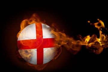 Fire surrounding england ball