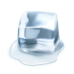 Ice cube, isolated on white background