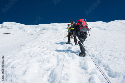 Foto op Aluminium Nepal Island peak( Imja Tse) climbing, Everest region, Nepal