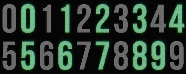 Dotted glowing Digits