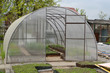 Greenhouse airing from cellular polycarbonate