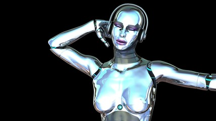 Sexy Dancing Robot Girl (Alpha Channel)
