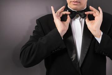 Classical Black Tuxedo Bow tie
