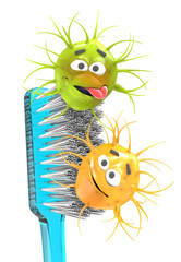 Toothbrush with bacteria